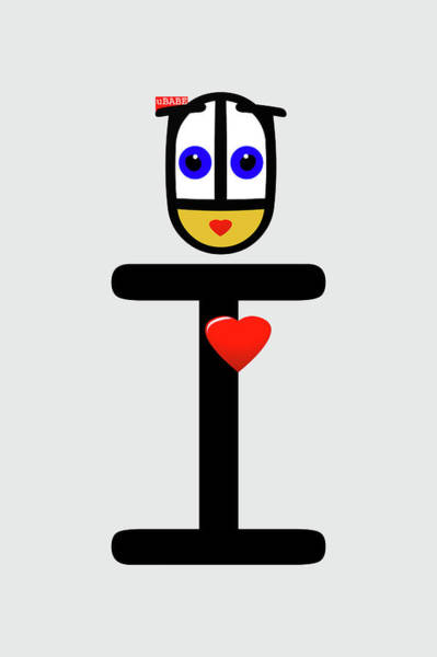 Digital Art - I Love You by Charles Stuart