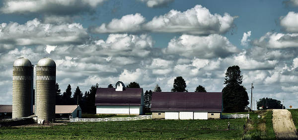 Feedlot Photograph - Iowa Farm Panorama by Mountain Dreams