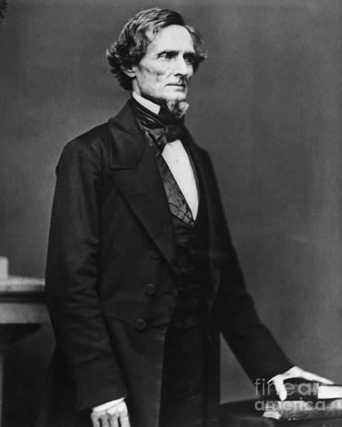 Mathew Photograph - Jefferson Davis by Granger