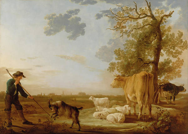Cuyp Wall Art - Painting - Landscape With Cattle by Aelbert Cuyp