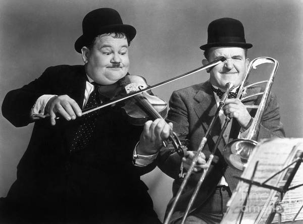 Moustache Photograph - Laurel And Hardy by Granger