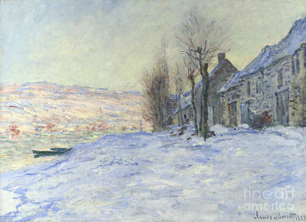 Painting - Lavacourt Under Snow by Claude Monet