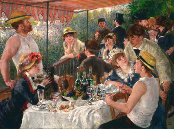 Wall Art - Painting - Luncheon Of The Boating Party by Pierre-Auguste Renoir