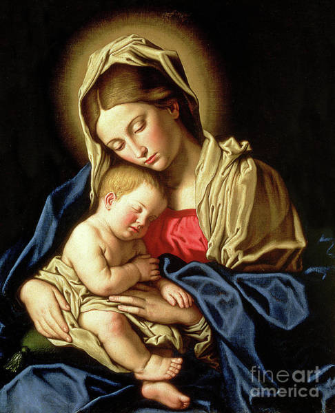 Infant Painting -  Madonna And Child by Il Sassoferrato