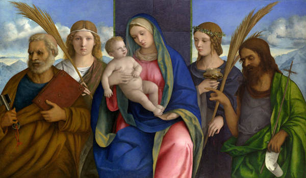 Painting - Madonna And Child With Saints by Giovanni Bellini