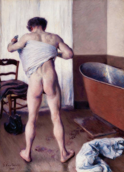 Wall Art - Painting - Man At His Bath by Gustave Caillebotte
