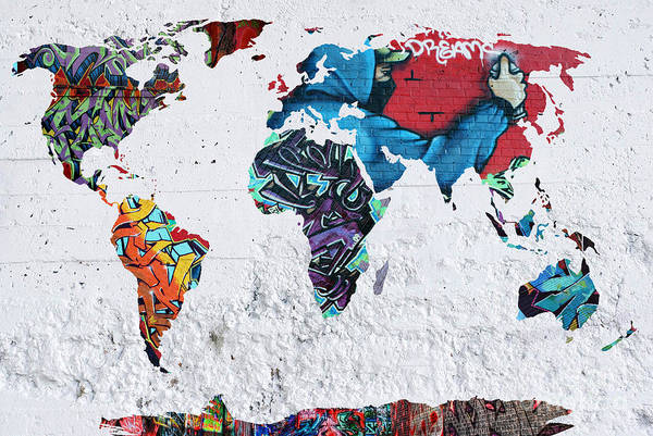 Wall Art - Painting - Map Of The World by Mark Ashkenazi