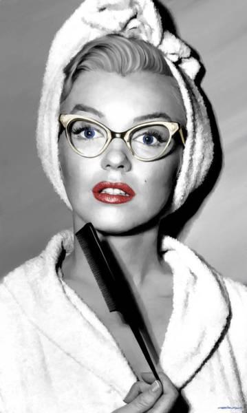 Digital Art - Marilyn Monroe Large Size Portrait by Gabriel T Toro