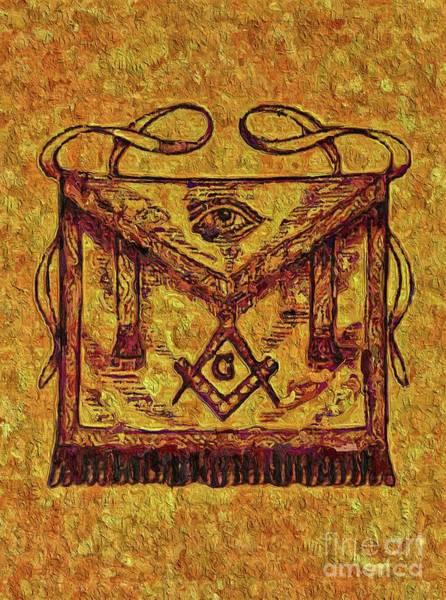 Wall Art - Painting - Masonic Symbolism by Esoterica Art Agency