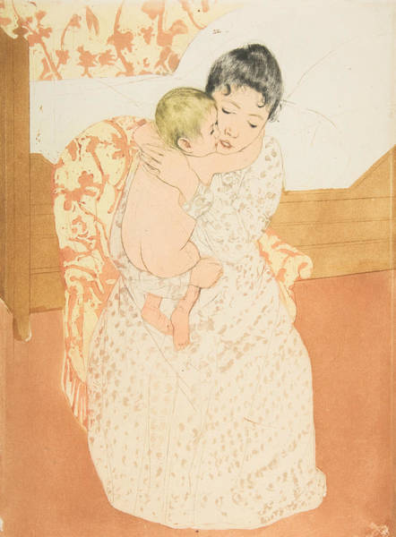 Relief - Maternal Caress by Mary Cassatt