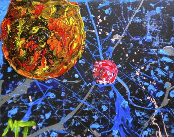 Midnight Transit Planet Art Print