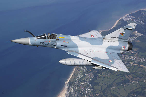 Interceptor Photograph - Mirage 2000c Of The French Air Force by Gert Kromhout