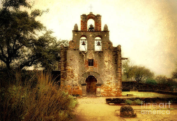 Bell Photograph - Mission Espada by Iris Greenwell
