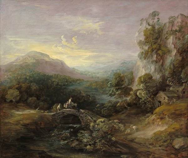 Thomas Gainsborough Wall Art - Painting - Mountain Landscape With Bridge by Thomas Gainsborough