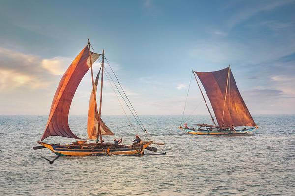 Outrigger Canoe Photograph - Negombo - Sri Lanka by Joana Kruse