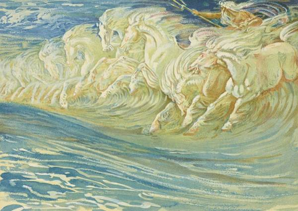Painting - Neptune's Horses by Walter Crane