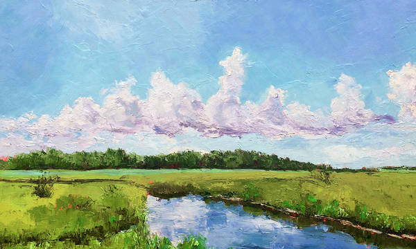 Painting - Winnabow Marsh, Nc by Bart Levy