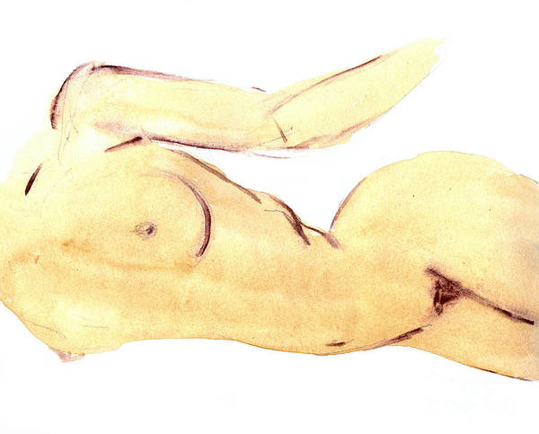 Wall Art - Painting - Nude by Michal Boubin