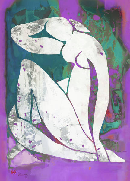 Wall Art - Mixed Media - Nude Pop Art Poster by Kim Wang