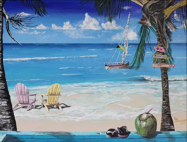 Wall Art - Painting - 5 O'clock Somewhere by Leo  Devillers