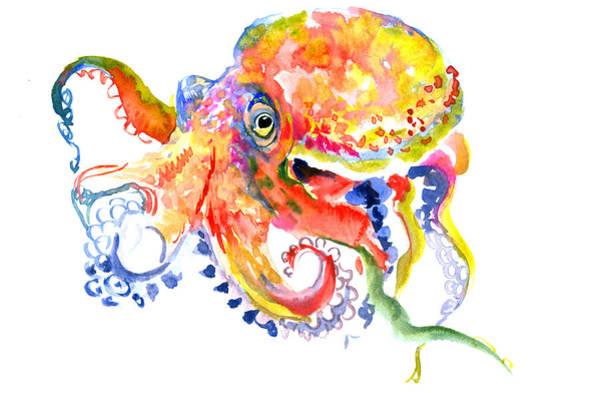 Octopus Painting - Octopus by Suren Nersisyan