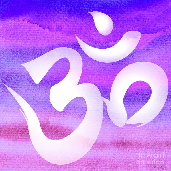 Digital Art - Om Symbol. Light Purple Pastels by Lita Kelley