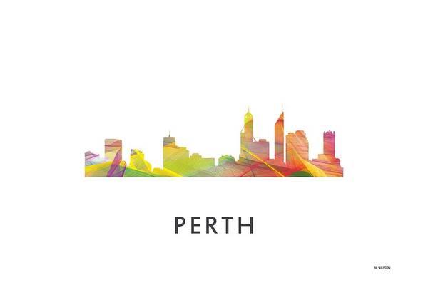 Wa Digital Art - Perth  Australia Skyline by Marlene Watson