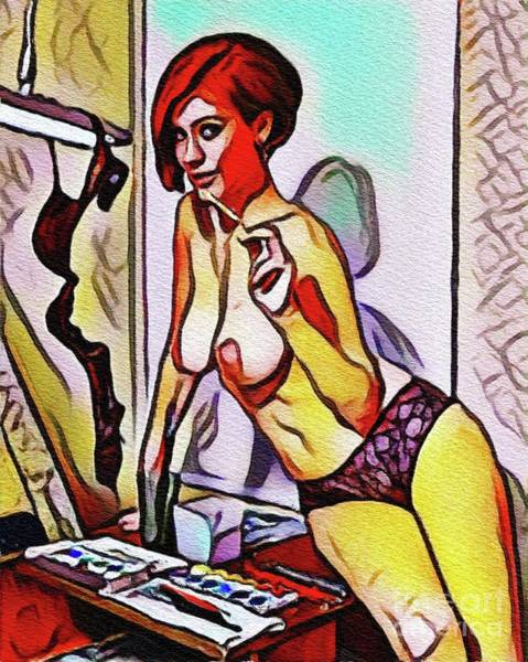 Wall Art - Painting - Picasso Pin Up by Frank Falcon