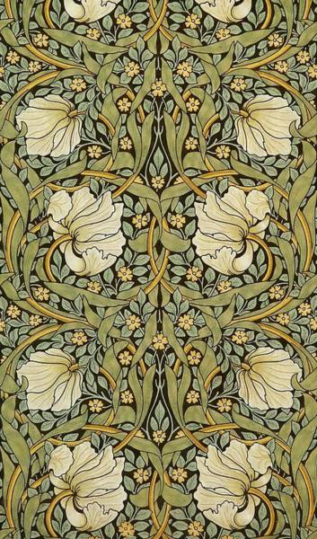Tapestries Textiles Wall Art - Painting - Pimpernel by William Morris