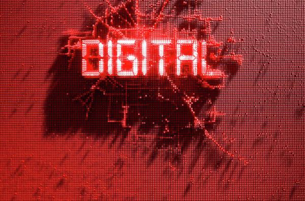 Wall Art - Digital Art - Pixel Digital Concept by Allan Swart
