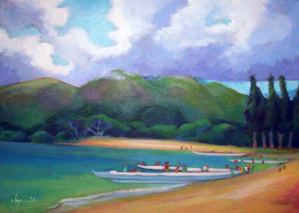 Painting - 5 P.m. Canoe Club by Angela Treat Lyon