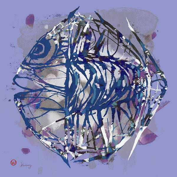 Wonderful Mixed Media - Pop Art Fish Poster by Kim Wang