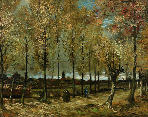 Poplar Painting - Poplars Near Nuenen by Vincent van Gogh