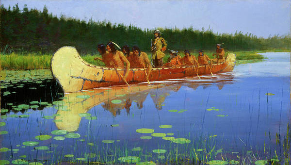 Pueblo Painting - Radisson And Groseilliers by Frederic Remington