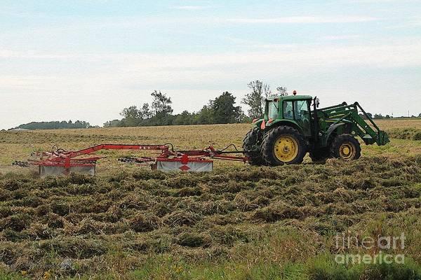 Meadowlands Painting - Raking Hay by J McCombie