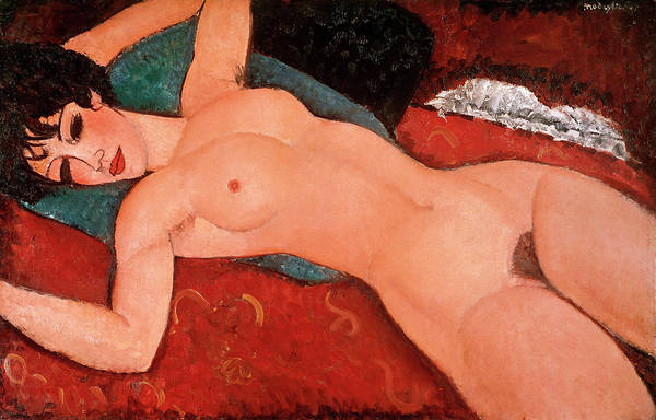 Modigliani Painting - Reclining Nude by Amedeo Modigliani