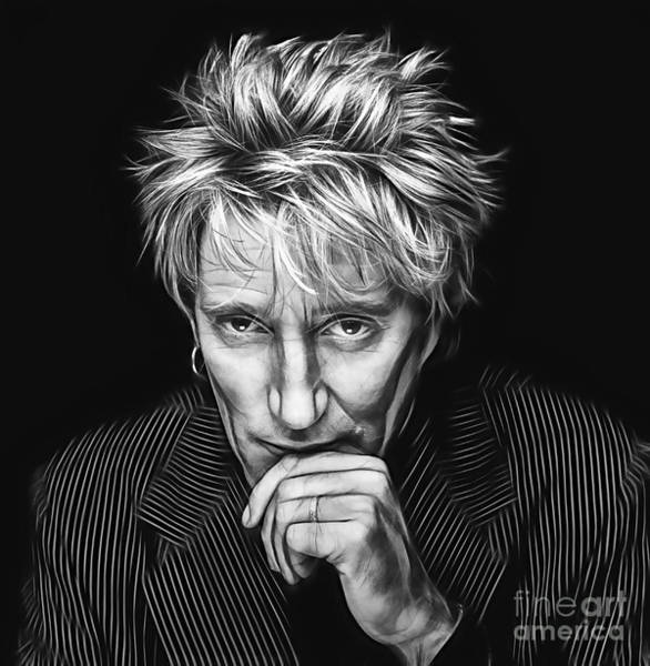 Wall Art - Mixed Media - Rod Stewart Collection by Marvin Blaine