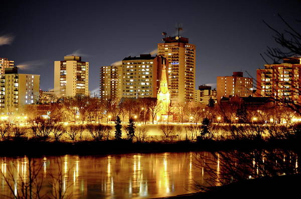 Wall Art - Photograph - Saskatoon At Night  by Cristina Sofineti
