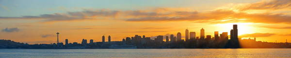 Photograph - Seattle Sunrise by Songquan Deng