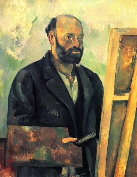 Painting - Self Portrait by Paul Cezanne