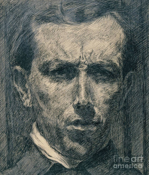 Wall Art - Drawing - Self Portrait by Umberto Boccioni