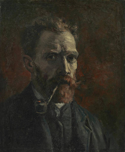 Serious Painting - Self-portrait With Pipe by Vincent van Gogh