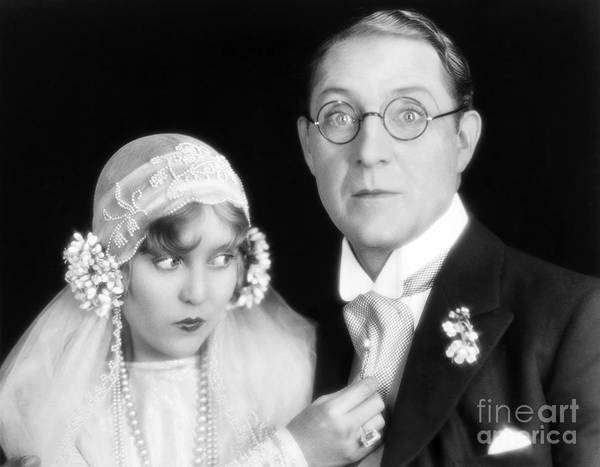 Photograph - Silent Film Still: Wedding by Granger