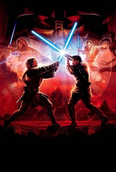 Jedi Digital Art - Star Wars Episode IIi - Revenge Of The Sith 2005 by Geek N Rock