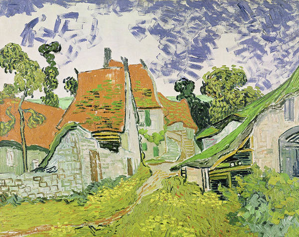 Narrow Street Painting - Street In Auvers - Sur - Oise by Vincent Van Gogh