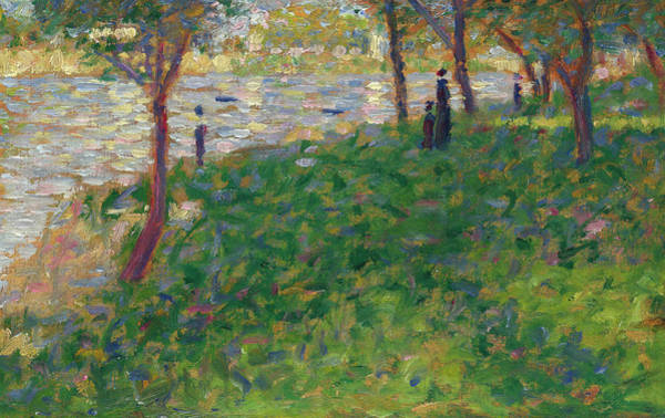 Waterway Painting - Study For La Grande Jatte by Georges Seurat