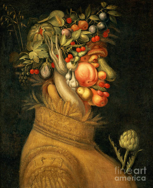Wall Art - Painting - Summer by Giuseppe Arcimboldo