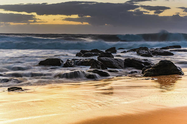 Killcare Photograph - Sunrise Seascape With Big Surf by Merrillie Redden