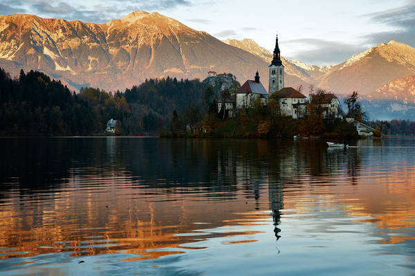 Wall Art - Photograph - Sunset Over Lake Bled by Ian Middleton