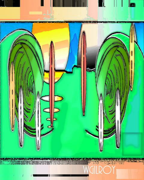 Wall Art - Mixed Media - Surf Art by W Gilroy